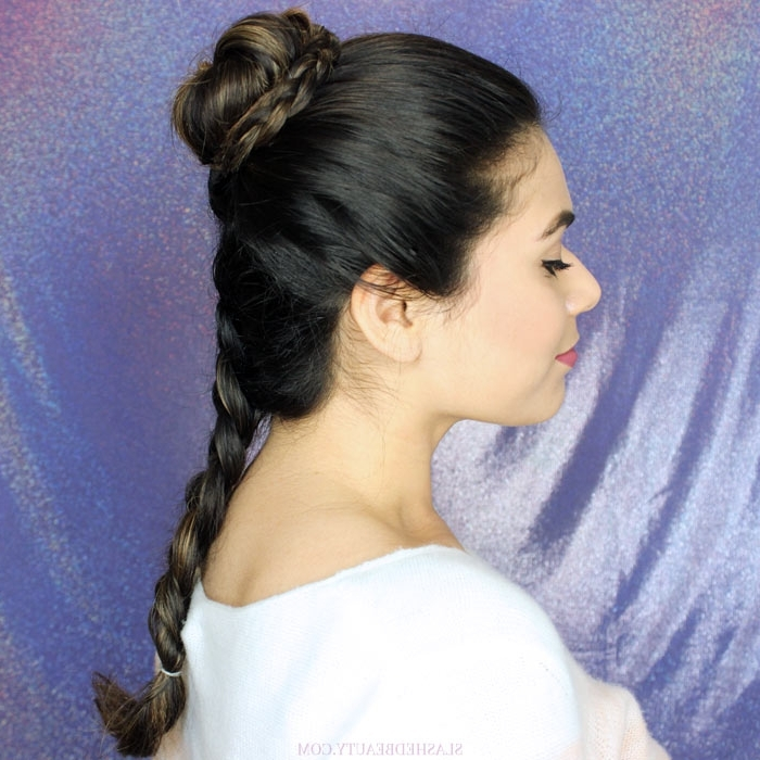 2 Princess Leia Hair Tutorials In Honor Of Carrie Fisher | Slashed Regarding Princess Tie Ponytail Hairstyles (View 16 of 25)