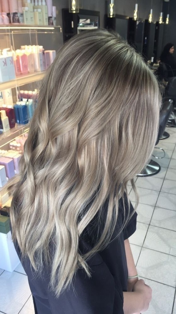 20 Adorable Ash Blonde Hairstyles To Try: Hair Color Ideas 2018 In No Fuss Dirty Blonde Hairstyles (View 1 of 25)