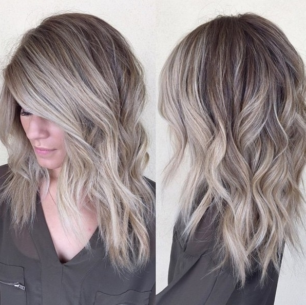 20 Adorable Ash Blonde Hairstyles To Try: Hair Color Ideas 2018 Inside Icy Ombre Waves Blonde Hairstyles (View 2 of 25)