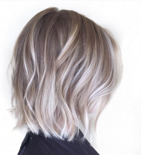 20 Adorable Ash Blonde Hairstyles To Try: Hair Color Ideas 2018 Throughout Ash Blonde Lob With Subtle Waves (View 1 of 25)