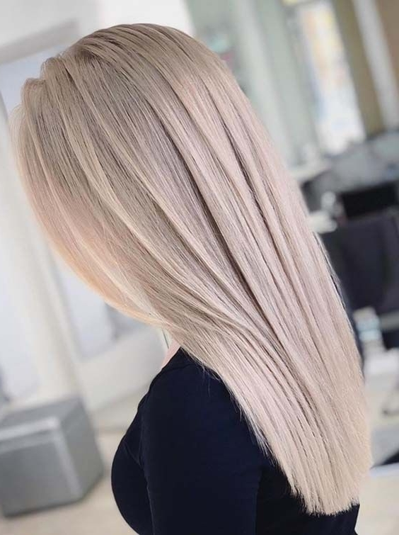 20 Adorable Ash Blonde Long Sleek Hairstyles To Show Off In 2018 Throughout Sleek Ash Blonde Hairstyles (View 3 of 25)