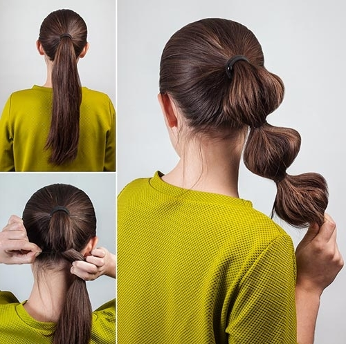 20 Adorable Hairstyles For School Girls In High Bubble Ponytail Hairstyles (View 2 of 25)