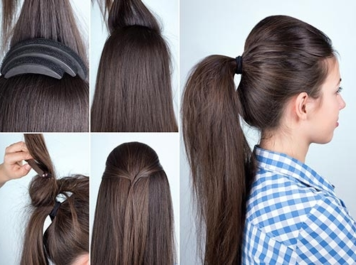 20 Adorable Hairstyles For School Girls Inside Ponytail Hairstyles With Bump (View 4 of 25)
