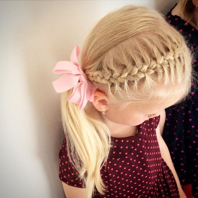 20 Adorable Toddler Girl Hairstyles Inside Macrame Braid Hairstyles (View 14 of 25)