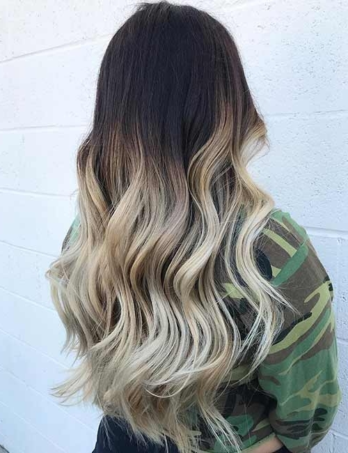 20 Amazing Brown To Blonde Hair Color Ideas With Regard To Dark Roots And Icy Cool Ends Blonde Hairstyles (View 2 of 25)