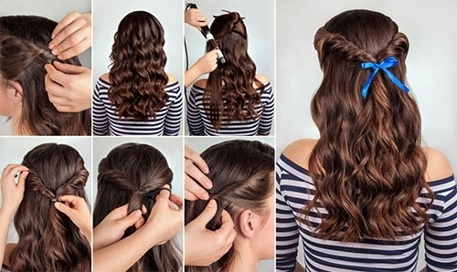 20 Amazing Hairstyles For Curly Hair For Girls Inside Botticelli Ponytail Hairstyles (View 16 of 25)
