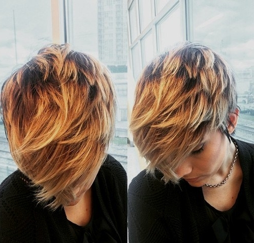 20 Amazing Short Balayage Hair Styles: Stylish Hair Color Ideas 2017 Intended For Most Recent Feathered Pixie With Balayage Highlights (View 6 of 25)