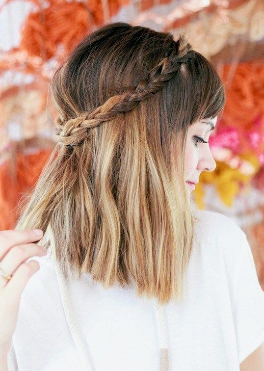 20 Beautiful Braids For Short Hair | Short Haircuts, Haircut Styles Pertaining To Brunette Macrame Braid Hairstyles (View 5 of 25)