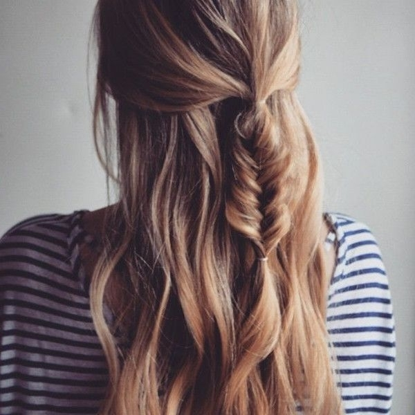 20 Beautiful Fishtail Braided Hairstyles | Styles Weekly Intended For Wavy Side Fishtail Hairstyles (View 16 of 25)