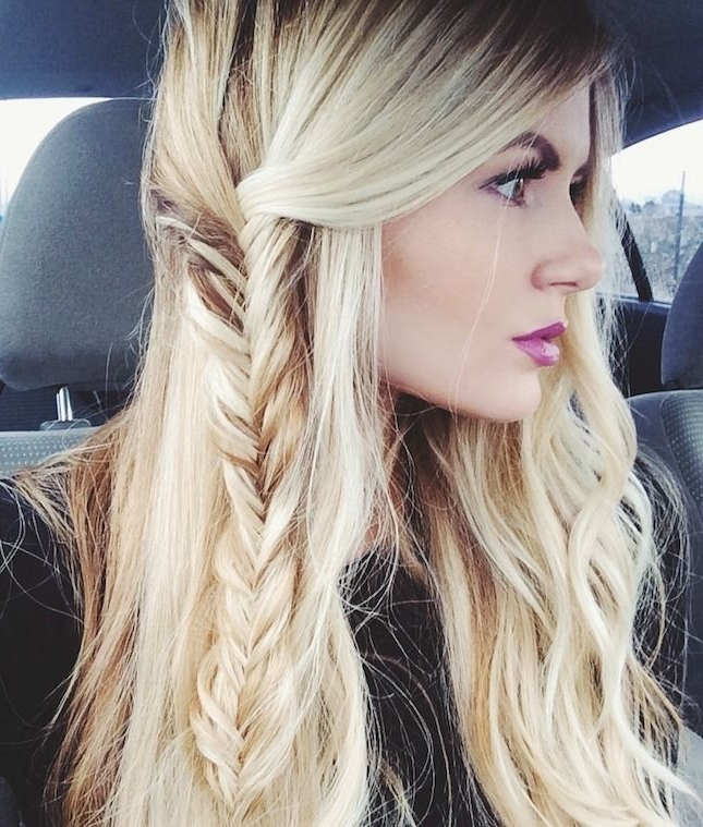 20 Beautiful Fishtail Braided Hairstyles | Styles Weekly Regarding Wavy Side Fishtail Hairstyles (View 6 of 25)