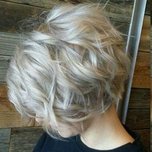 20 Best Short Wavy Bob Hairstyles | Bob Hairstyles 2018 – Short Throughout Curly Angled Blonde Bob Hairstyles (View 17 of 25)