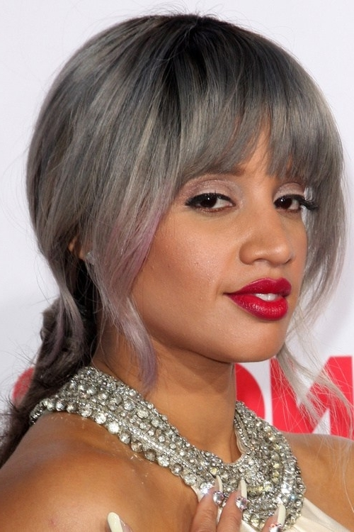 20 Black Hairstyles With Bangs Oozing Mismatched Chic – Page 14 Inside Low Black Ponytail Hairstyles With Bangs (View 15 of 25)