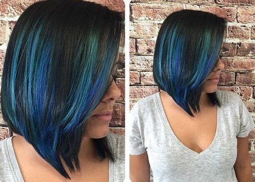 20 Blue Hair Color Ideas  Pastel Blue, Balayage, Ombre, Blue Throughout Blonde Hairstyles With Green Highlights (View 3 of 25)