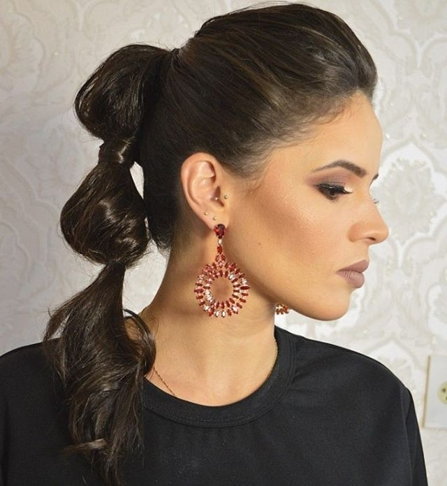 20 Charming And Sexy Valentine's Day Hairstyles   Bubble Ponytail Intended For Sleek Bubble Ponytail Hairstyles (View 8 of 25)