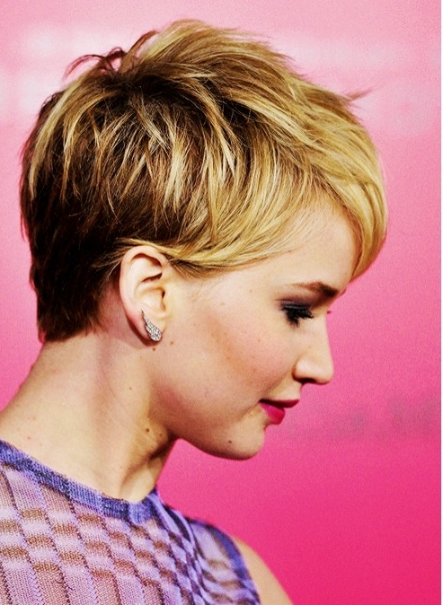 20 Chic Pixie Haircuts For Short Hair – Popular Haircuts Pertaining To Most Current Blonde Pixie Hairstyles With Short Angled Layers (View 21 of 25)