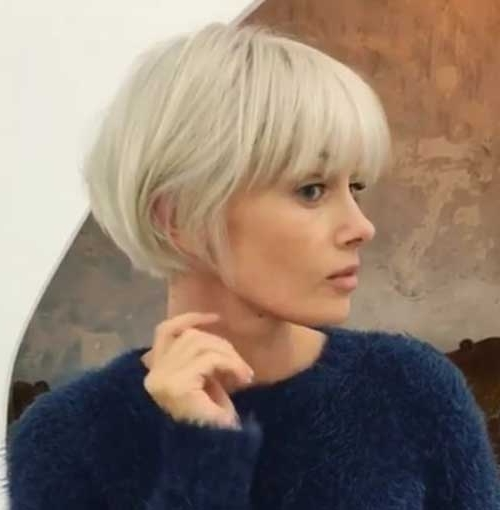 20 Chic Short Bob Haircuts For 2018   Short Hairstyles 2017 – 2018 For Cute Blonde Bob With Short Bangs (View 14 of 25)