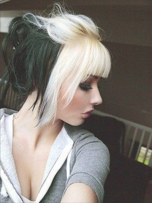 Featured Photo of Bi Color Blonde With Bangs