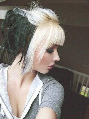 20 Chicas Que Te Servirán De Inspiración Para Tener Un Cabello throughout Bi-Color Blonde With Bangs