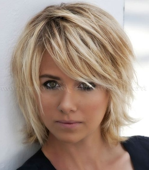 20 Choppy Bob Haircuts | Hair | Pinterest | Short Asymmetrical Bob Within Asymmetry Blonde Bob Hairstyles Enhanced By Color (View 5 of 25)