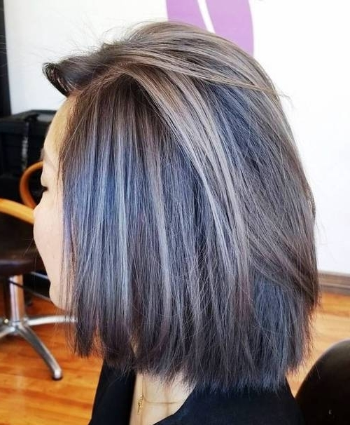 20 Cool Silver & White Highlights Hair Ideas – Hairstyles Weekly Inside Long Blonde Bob Hairstyles In Silver White (View 21 of 25)