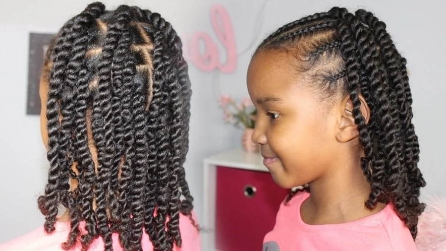 20 Cute African Cornrow Braid Hairstyles With An Updo ? Tuko.co (View 4 of 25)