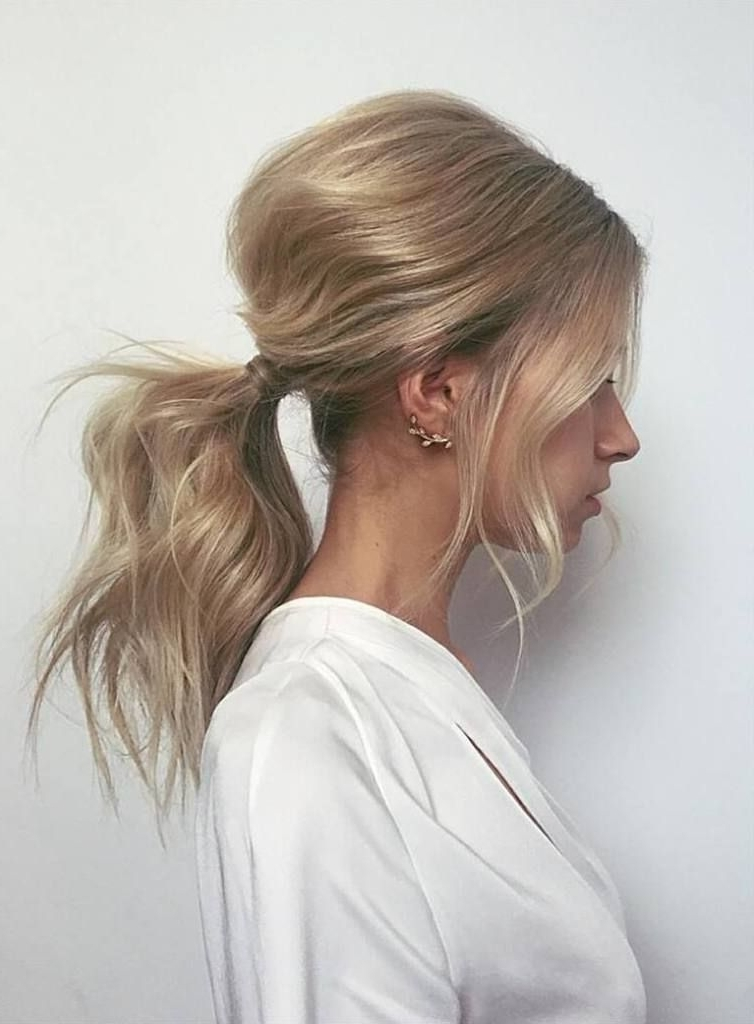 20 Cute And Easy Party Hairstyles For All Hair Lengths And Types Intended For Long Braided Ponytail Hairstyles With Bouffant (View 14 of 25)