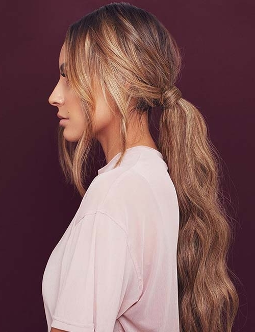 20 Cute Hairstyles For Long Hair Throughout Low Ponytail Hairstyles With Waves (View 8 of 25)