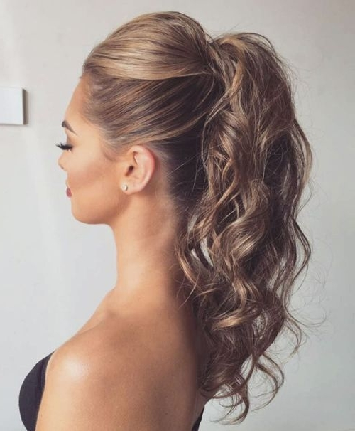 20 Date Night Hair Ideas To Capture All The Attention | Hair, Makeup Pertaining To Bouffant And Braid Ponytail Hairstyles (View 7 of 25)