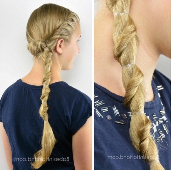 20 Easy And Chic Hairstyles For School Girls – Pretty Designs Throughout Braided Headband And Twisted Side Pony Hairstyles (View 4 of 25)