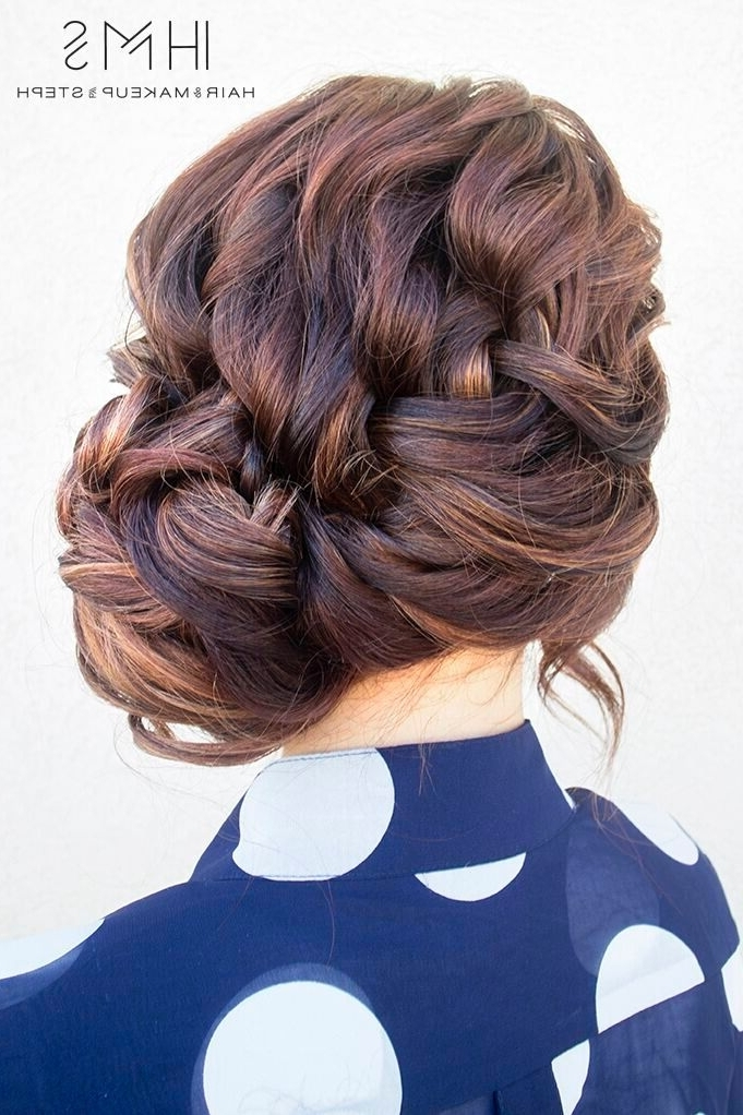 20 Exciting New Intricate Braid Updo Hairstyles – Popular Haircuts With Regard To Intricate Updo Ponytail Hairstyles For Highlighted Hair (View 7 of 25)