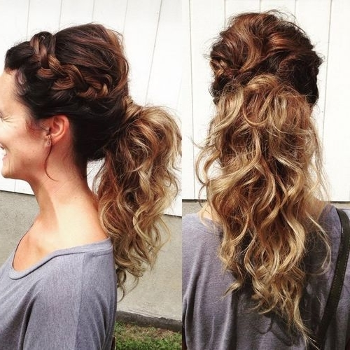 20 Fabulous Easy French Braid Ponytail Hairstyles To Diy | Styles Weekly Inside Ombre Curly Ponytail Hairstyles (View 8 of 25)