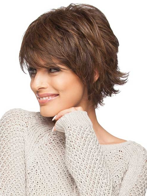 20 Feather Cut Hairstyles For Long, Medium, And Short Hair – Di Inside Latest Brunette Pixie Hairstyles With Feathered Layers (View 6 of 25)