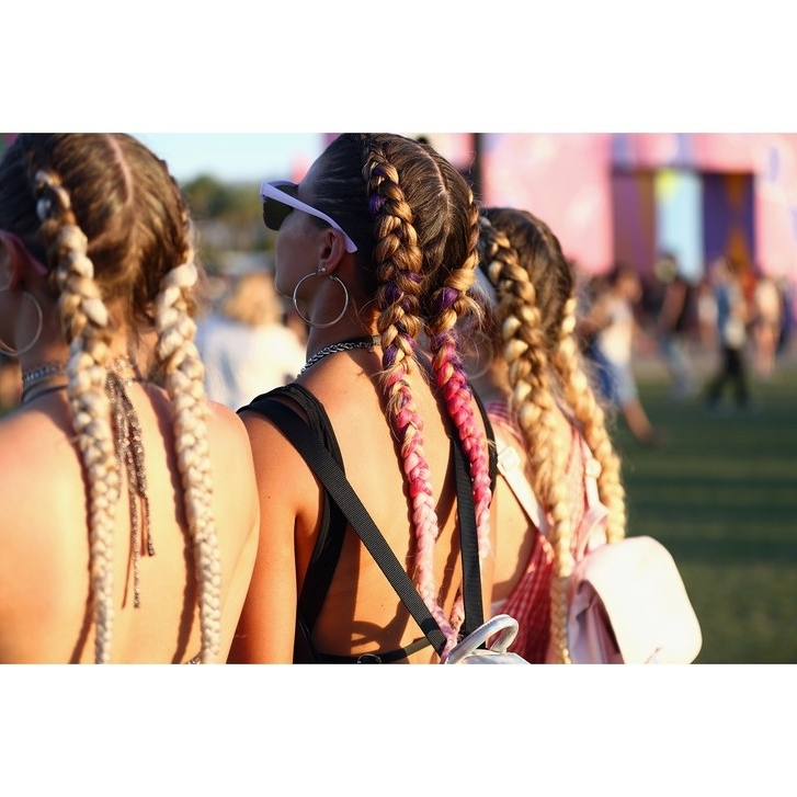 20 Festival Hairstyle Ideas For 2018 – Music Festival Hair Trends In Glitter Ponytail Hairstyles For Concerts And Parties (View 16 of 25)