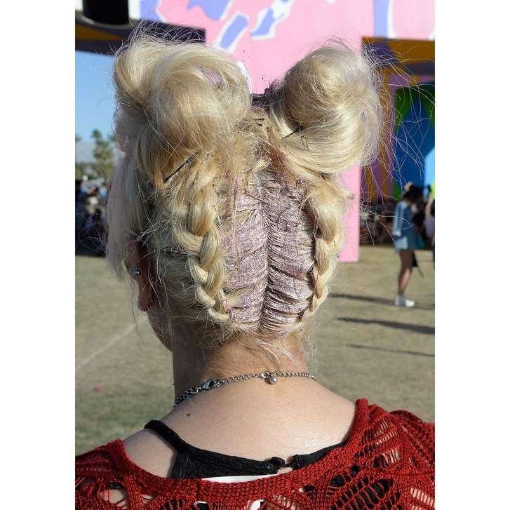 20 Festival Hairstyle Ideas For 2018 – Music Festival Hair Trends Intended For Glitter Ponytail Hairstyles For Concerts And Parties (View 17 of 25)