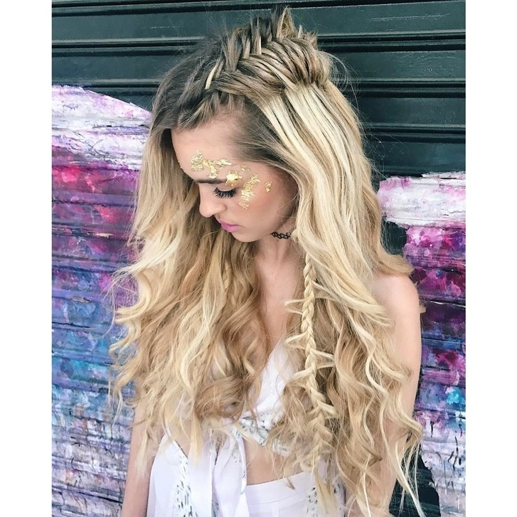 20 Festival Hairstyle Ideas For 2018 – Music Festival Hair Trends With Regard To Glitter Ponytail Hairstyles For Concerts And Parties (View 13 of 25)