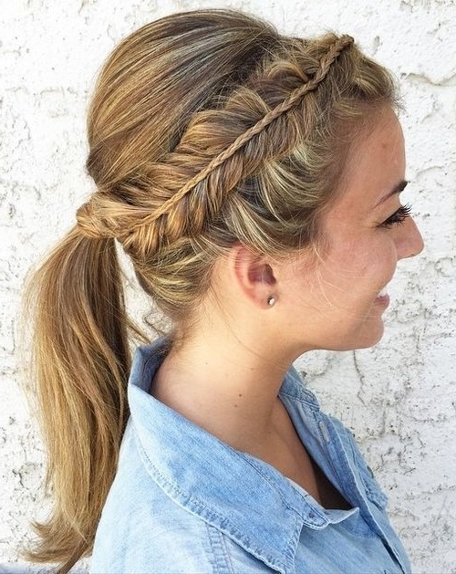 20 Glamorous Double Dutch Braids For 2018 – Hairstylecamp With Regard To Messy Ponytail Hairstyles With A Dutch Braid (View 12 of 25)