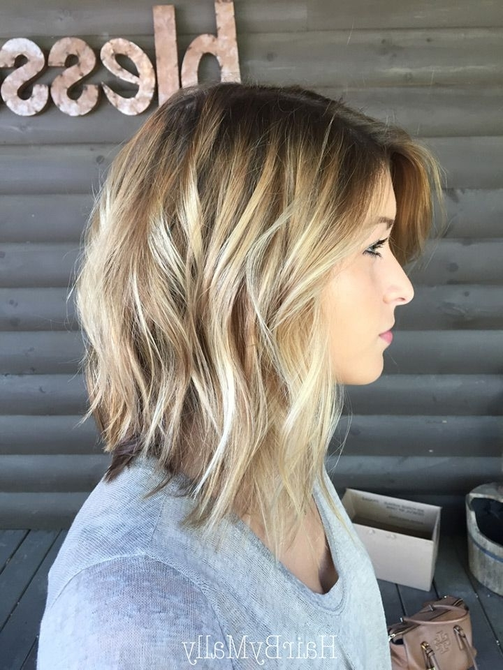 20 Gorgeous Inverted Choppy Bobs | Prom Hairstyles | Pinterest Inside Tousled Beach Babe Lob Blonde Hairstyles (View 4 of 25)