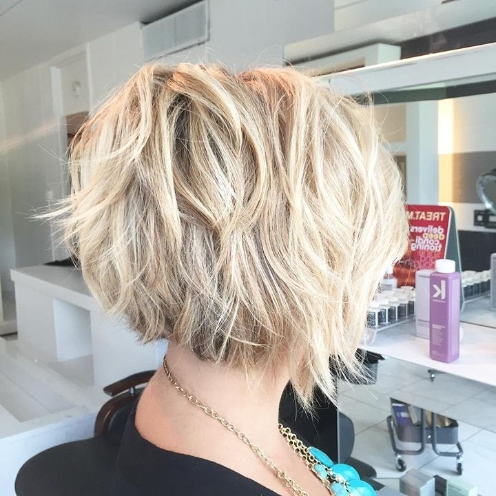 20 Gorgeous Inverted Choppy Bobs | Prom Hairstyles | Pinterest With Asymmetry Blonde Bob Hairstyles Enhanced By Color (View 6 of 25)