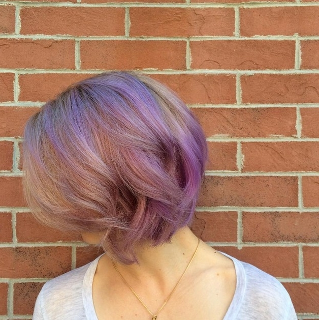 20 Gorgeous Pastel Purple Hairstyles For Short, Long And Mid Length Pertaining To Blonde Bob Hairstyles With Lavender Tint (View 9 of 25)