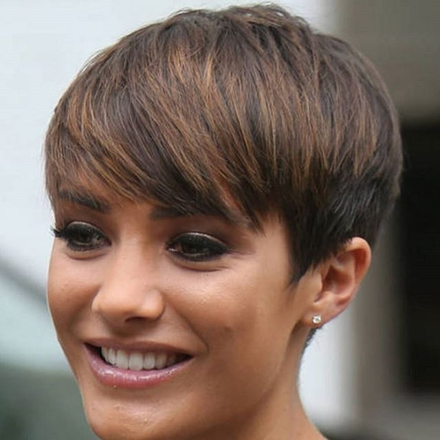 20 Gorgeous Short Pixie Haircut With Bangs – Short Haircuts For Regarding Most Recently Silver And Brown Pixie Hairstyles (View 25 of 25)