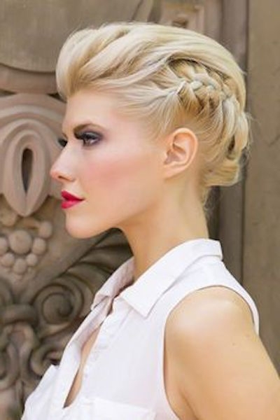 20 Gorgeous Updo Hairstyles For Short Hair – Popular Haircuts In Hidden Braid Hairstyles (View 16 of 25)