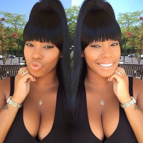 Featured Photo of Minaj Pony Hairstyles With Arched Bangs