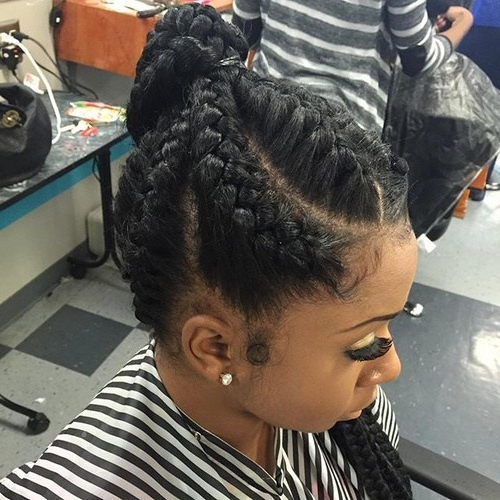 20 High Ponytails For Every Woman – Page 11 – Foliver Blog Modern Of Throughout High Ponytail Hairstyles With Jumbo Cornrows (View 6 of 25)