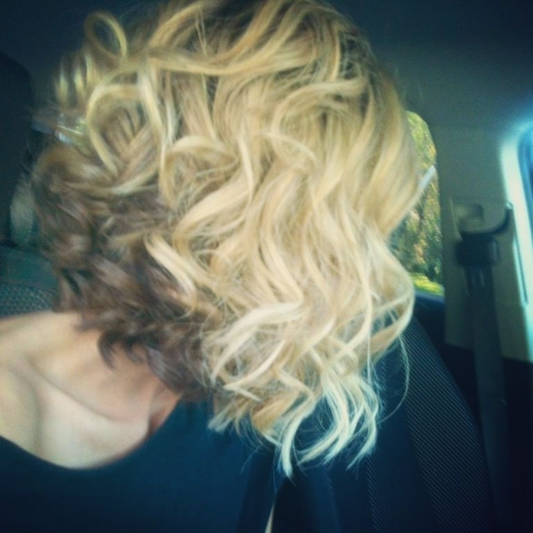 20+ Inverted Bob Haircuts | Hair | Pinterest | Curly Inverted Bob Throughout Curly Angled Blonde Bob Hairstyles (View 12 of 25)