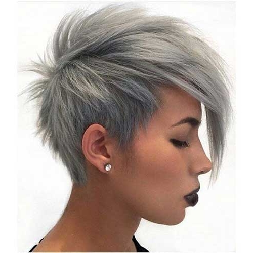 20 Long Pixie Haircut For Thick Hair | Hairstyles & Haircuts 2016 – 2017 Throughout Most Current Funky Blue Pixie Hairstyles With Layered Bangs (View 23 of 25)