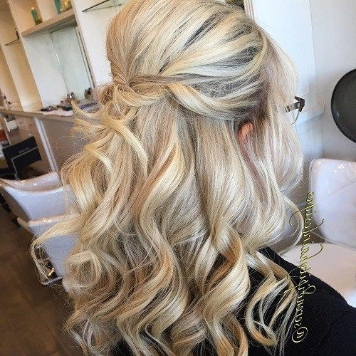 20 Lovely Wedding Guest Hairstyles | Wedding | Pinterest | Half Updo In Half Updo Blonde Hairstyles With Bouffant For Thick Hair (View 2 of 25)