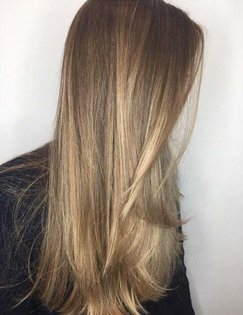 20 Marvelous Balayage Styles For Straight Hair Regarding Poker Straight Cool Blonde Style (View 2 of 25)