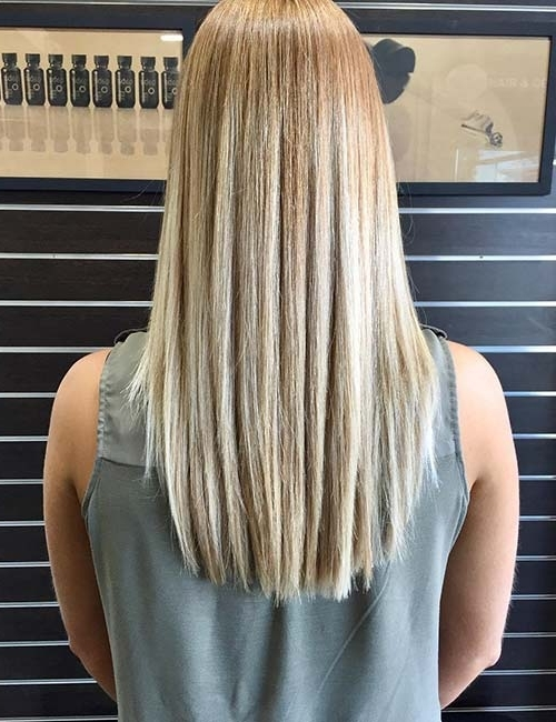 20 Marvelous Balayage Styles For Straight Hair With Poker Straight Cool Blonde Style (View 3 of 25)