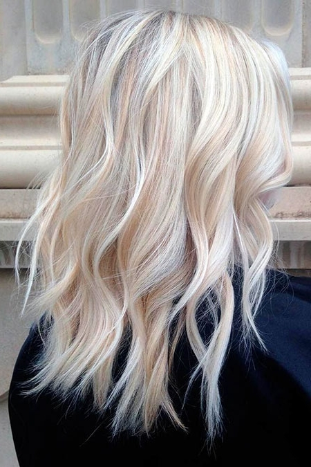 20+ Medium Icy Blonde Hair Color Ideas – Blonde Hairstyles 2017 Intended For Dark Blonde Hairstyles With Icy Streaks (View 2 of 25)