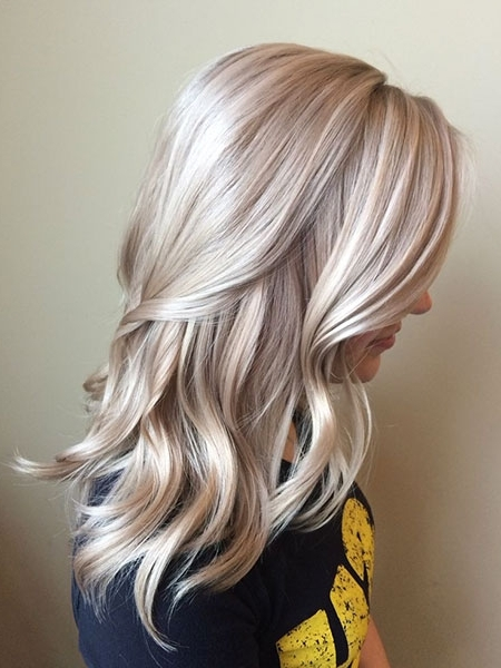 20+ Medium Icy Blonde Hair Color Ideas – Blonde Hairstyles 2017 Within Dark Blonde Hairstyles With Icy Streaks (View 3 of 25)
